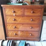 Antique Pear Veneered Chest of Drawers