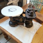Ceramic Plate Vintage Scales