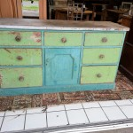 Early Victorian Painted Pine Kitchen Unit