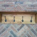 Handmade Coat Hooks with Shelf