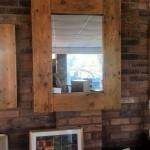 Handmade Reclaimed Wood Mirror