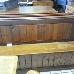 Old Pitch Pine Church Pew - Lock Stock and Sparrow