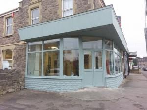 outside new shop